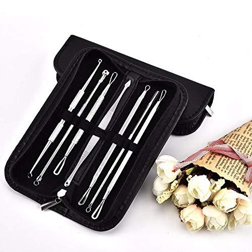 7pcs/set Blackhead Remover Kits Extracteur Point Noir Tire Comédon Professional Enlever Point Noir Point Noir Acné Outil de Beauté en Acier Inoxydable