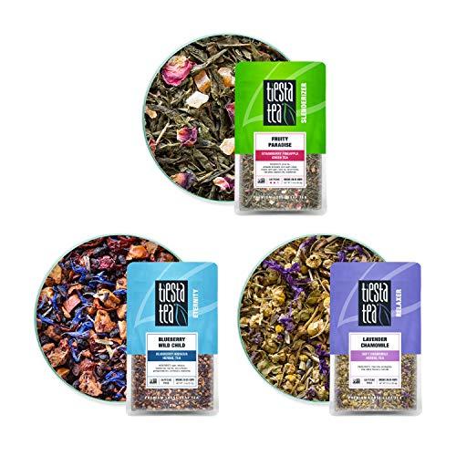Tiesta Tea - Tiesta´s Top Loose Leaf Tea Pouch Set, Medium Caffeine, Hot & Iced Tea, Tea Assortment with Green, Herbal & Lavender Tea Bags, Natural Ingredients, Assorted Tea Box