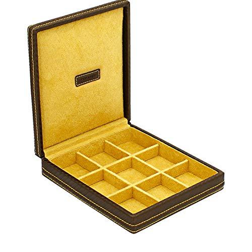 Friedrich 23 - Ecrin 9 Boutons De Manchette, Carbone, Fibre De Carbone Marron Intérieur Jaune