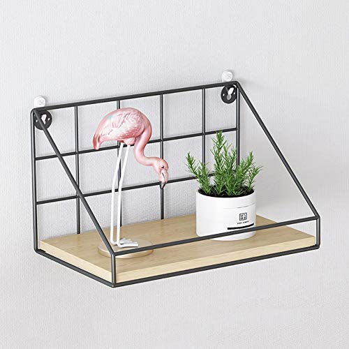 Plank van de Muur Vrij van Gaten, scheidingswanden Versieren Desktop Slaapkamer Woonkamer Metalen rekken, Creative Nordic TV Wall Display Shelf (Size : S)