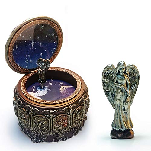 L.W.S Table decoration Ornaments Twelve Constellations Pisces Music Box Colorful Lighting Resin Crafts Creative Novelty Gifts Birthday Gifts Valentine's Day Gifts Pure Music