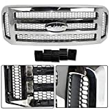 Make Auto Parts Manufacturing Chrome Grille Assembly With Gray Honey Comb Insert For Ford SuperDuty Pickup F-Series F250 F350 F450 F550 2005-2007 (XLT/Lariat OR Amarillo Models) - FO1200456