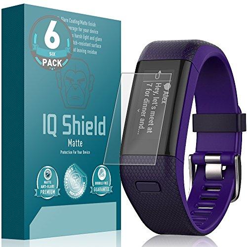 IQ Shield Matte Screen Protector Compatible with Garmin Vivosmart HR+ (Garmin Approach X40)(6-Pack) Anti-Glare Anti-Bubble Film