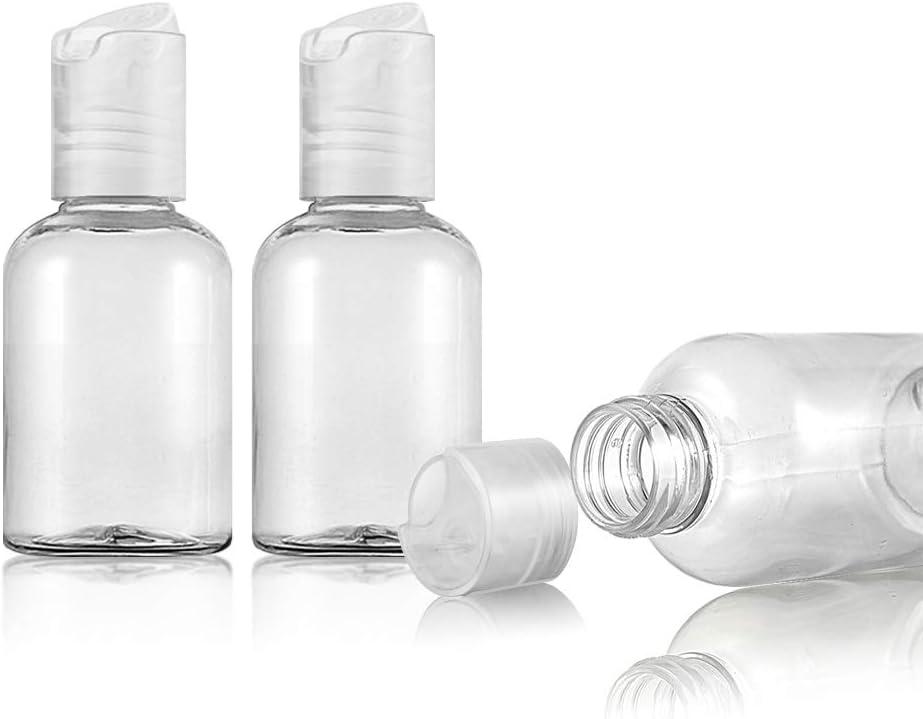 t/óner y gel loci/ón botellas de viaje botellas de art/ículos de tocador para champ/ú 10 botellas de viaje transparentes de 50 ml envases de viaje crema Ruiao aceite