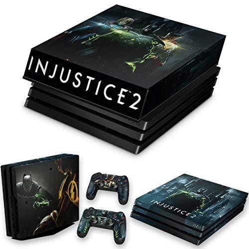 Capa Anti Poeira e Skin para PS4 Pro - Injustice 2