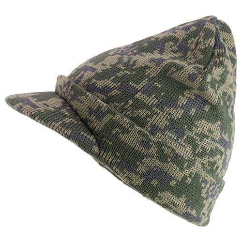 Armycrew Camouflage Knit Beanie Hat with Visor - UDG