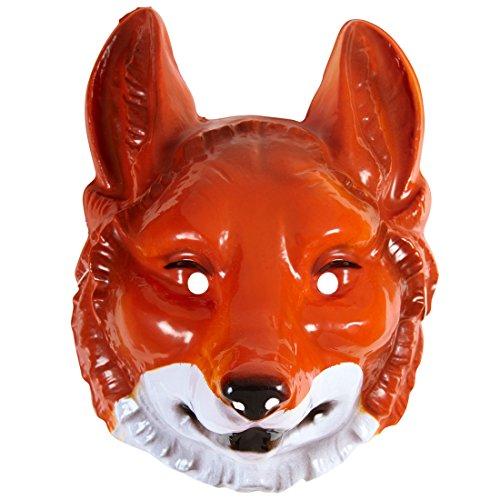 NET TOYS Masque de Renard Tête de Renard Fox Masque de Carnaval Animalier Loup déguisement Conte Costume d'animal Accessoire Masque Adulte Zoo