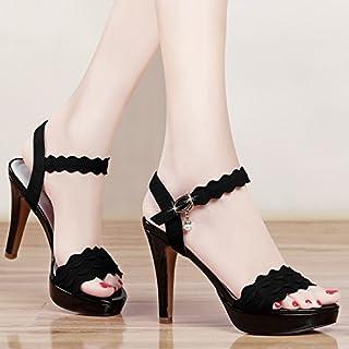compras online de deportes VIVIOO High Heels High Heel Sandals Summer Open Toe Toe Toe Stiletto Heel Sandals mujer Summer Platforms Thick-Soled zapatos Nightclubs  venta al por mayor barato