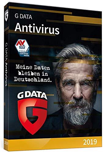 G DATA Antivirus 2019 | 1 PC Standard - 1 Jahr | Windows |Trust in German Sicherheit | Aktivierungscode in Standardverpackung + DVD