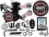 BBR Tuning 66/80cc Black Motorized Bicycle Kit – 2 Stroke Gas Powered Bike Motor Engine