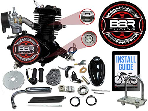 Grip Wingsmoto 49cc 2-stroke Pocket Mini Dirt Bike ATV Engine with Gear Box 14T T8F Sprocket New Metal Recoil Racing Air Filter Throttle Cable