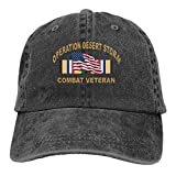 Voxpkrs Trucker Cap Operation Desert Storm Combat Veteran Durable Baseball Cap,Adjustable Dad Hat Black Comfortable13583
