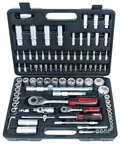 """KS Tools 917.0796 1/4\""""+1/2\"""" Juego de llaves de vaso dodecaedras, 96 pzs"""