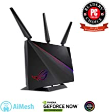 $240 Get Asus ROG (GT-AC2900) Dual-Band Wireless Gigabit Wi-Fi Gaming Router - GeForce Now Optimization with Triple-Level Game Acceleration, 4X LAN, 1X USB 3.0, 1X USB 2.0 Compatible with Aimesh