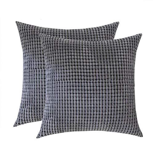Toruiwa. 2pcs Cushion Covers 60x60cm Corduroy Corn Decorative Square Pillow Cover Cushion Case For Sofa Bedroom