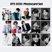 Kpop Bangtan Boys SUGA JUNGKOOK JIMIN JIN RM VJ-HOPE韓国韓国紙カードフォトカードロモカード15枚
