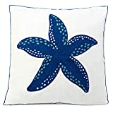 Beach Throw Pillow, Coastal Throw Pillows, Starfish Pillow Decorative Beach Pillow Cover 18 x 18 Coastal Pillow Covers Square