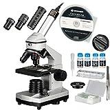 Bresser Junior Mikroskop Set 40x-1024x mit USB Kamera und heller LED-Beleuchtung für Durchlichtbeobachtungen inklusive reichhaltigem Zubehörpaket und stabilem Hartschalenkoffer