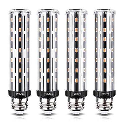4 Pack - 15W E26 LED Corn Light Bulb, Wenscha 15W Warm 3000K E26 100-120Watt Equivalent Super Bright Energy Saving LED Tubular Cylindrical Light Bulbs for Home Indoor, Non-Dimmable