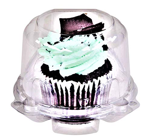 Green Direct Cupcake Boxes - Clear Plastic Dome Standard size Cupcake Holder Single Compartment Pack of 50
