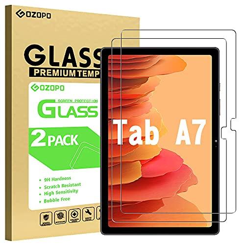 GOZOPO - Pellicola proteggi schermo per Samsung Galaxy Tab A7 10.4 (2020), modello T505 T500 T507, durezza 9H 2.5D con bordo rotondo in vetro temperato per Galaxy Tab A7 10.4 (confezione da 2)