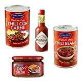 Santa Maria Würziges Set: 1 x Chili con Carne, 1 x Chili Beans, 1 x DIP Hot Sauce, 1 x Tabasco McIlhenny