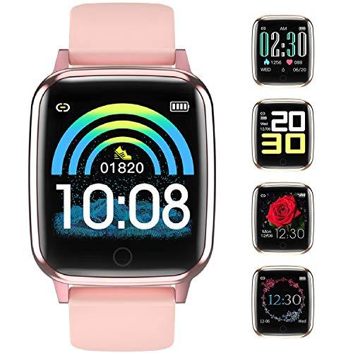Smartwatch Impermeable IP67 Reloj Inteligente con Cronómetro, Pulsera Actividad Inteligente para Deporte, Reloj de Fitness con Podómetro Smartwatch Mujer niños para Xiaomi Huawei iPhone