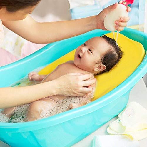 Coussin De Bain pour Bébé, Siège De Coussin Antidérapant pour Le Bain Nouveau-né, Coussin De Mousse Éponge Coussin De Baignoire Flottante pour Bébés De 0 À 2 Ans