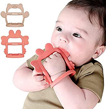 Petinube Anti-Dropping Silicone Baby Wrist Teether Soothing Pacifier