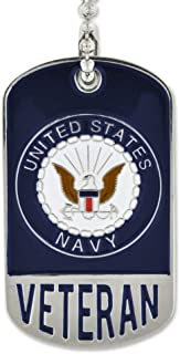 PinMart Military USN US Navy Engravable Personalized Dog Tag Veteran Gift