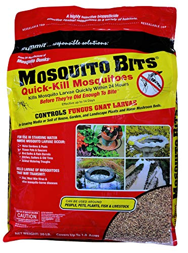Summit Mosquito Bits, 20 lb, Quick-Kill Biological Control for mosquitos and fungus gnats