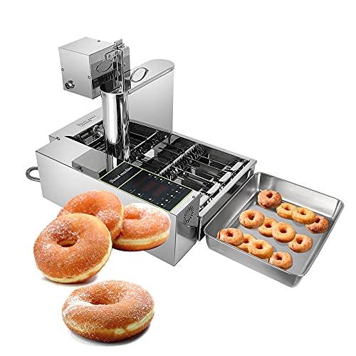 Automatische Donut-Maschine Kommerziell Digitale Donut-Friteuse Kommerzieller Mini Donut Maker Donut Machine Maker Einstellbare Donutstärke Rostfreier Stahl 5,5 l Trichter 1750 Einheit/h