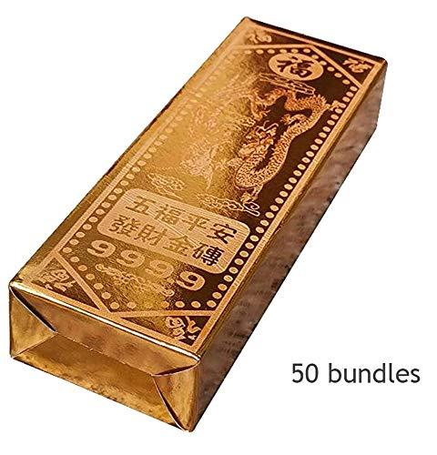 Wanjia Chinesisches/vietnamesisches Papier Gold Ahnengeld Gold Halbfeste Goldsteine, Goldbarren, brennendes Papier, Geld, Papierangebote, gelbes Papier, Zinnfolie,A