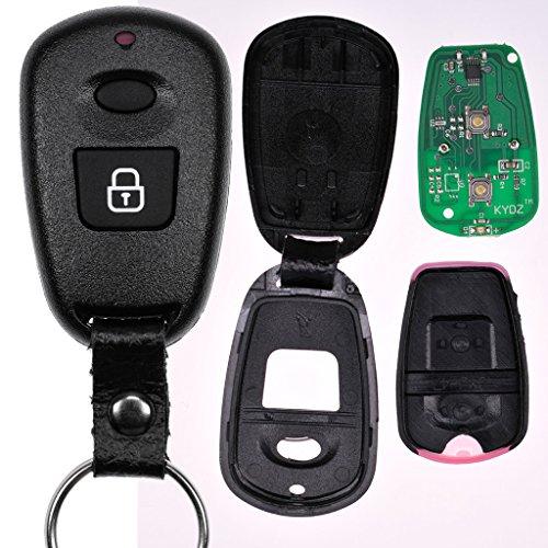Auto Schlüssel Funk Fernbedienung 1x Funk Gehäuse + 1x 434 MHz Sender Sendeeinheit + 1x Batterie für Hyundai