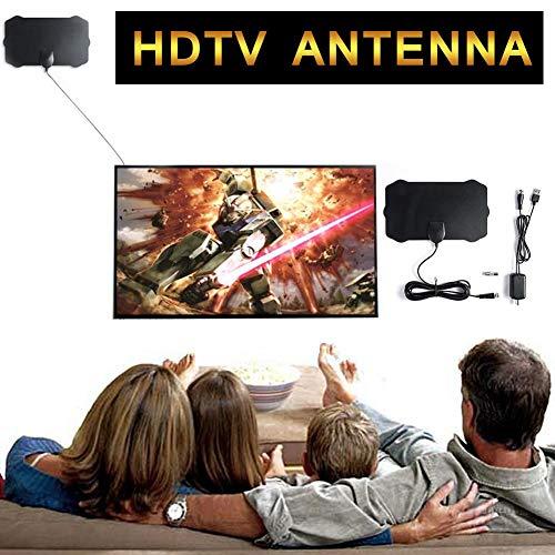 lembrd TV antenne 120 Miles HDTV-versterker 1080P Digitale HDTV-antenne - Indoor TV-antenne met versterker Signal Booster TV Radius Surf Fox Antena HD TV-antenne antenne