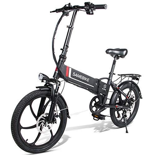 FENGD 20' Bicicleta eléctrica, 48V 8Ah de Litio incorporada Plegable de la batería E Bicicleta eléctrica Bicicleta Plegable Potente Motor de Bicicleta eléctrica, hasta 30 km/H