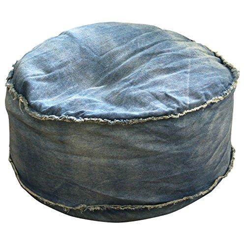 VENTO ビーズクッション デニム ドラムクッション (ブルー)