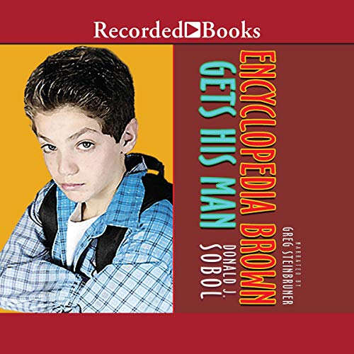 Encyclopedia Brown Gets His Man audiobook cover art