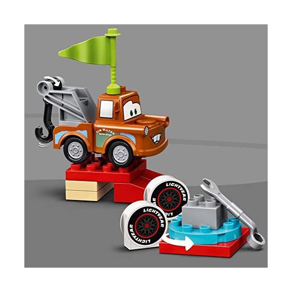 DUPLO Cars TM Cars Día de la Carrera de Rayo McQueen Coches de Juguete DisneyPixar para Niños Pequeños de 2 Años de Edad, multicolor (Lego ES 10924)