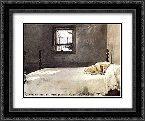 Super beauty product restock quality top Master Bedroom c.1965 Recommended 2X Matted 23x20 P Ornate Framed Black Art