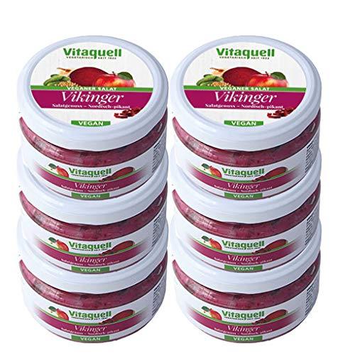 Vitaquell 6 x Vikinger-Salat Veganer Salatgenuss, 180 g Vegan To Go