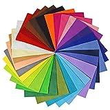 Vaessen Creative 10429-003 - Hojas de fieltro A6, 10x15 cm, 1 mm de espesor, 30 unidades, multicolor