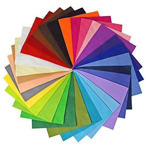Vaessen Creative Hojas de Fieltro A4, Multicolor, 21x3x31 cm, 30 Unidades