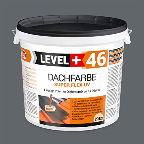 Peinture de toit - 20 kg - Peinture de toit - Membrane polymère flexible - Résistant aux intempéries - Gris pierre RM46