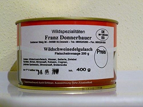 Wildschweinedelgulasch aus dem Bay. Wald vom Metzger keine Industrieware