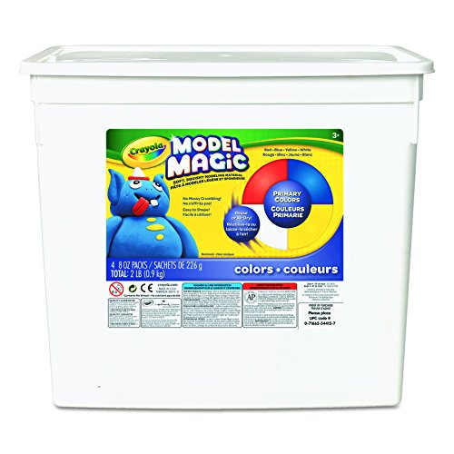 Crayola Model Magic, Primary Colors, Modeling Clay Alternative, 2 lb. Bucket, Gift