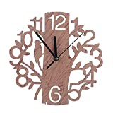 HHuin Reloj de Pared Creativo con Forma de árbol, Sala de Estar, Dormitorio
