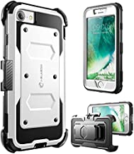 i-Blason Armorbox Case Designed for iPhone SE2 2020 /iPhone 7/iPhone 8, Built-in [Screen Protector] Full-Body Rugged Holster Case for iPhone SE 2nd generation, White