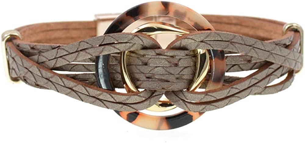 Metal Charm 4 Brand Cheap Sale Venue years warranty Leather Bracelets For Men's Women Multiple Wr Layers