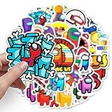 Among Us Cartoon Games Graffiti Waterproof Skateboard Travel Suitcase Phone Laptop Luggage Stickers Cute Kids Girl Toys 50 Pcs